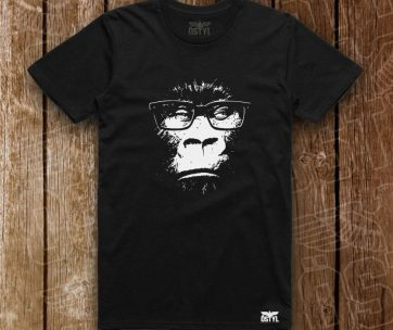 negru gorilla ochelari