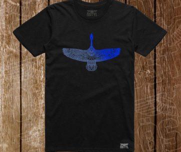 goose albastru metalic pe negru