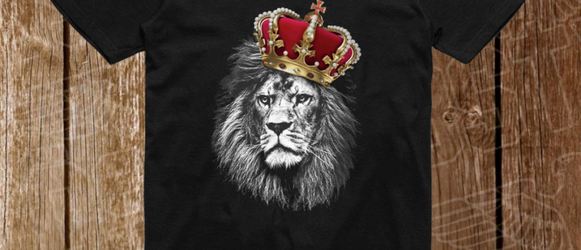 regele leu tricou a4