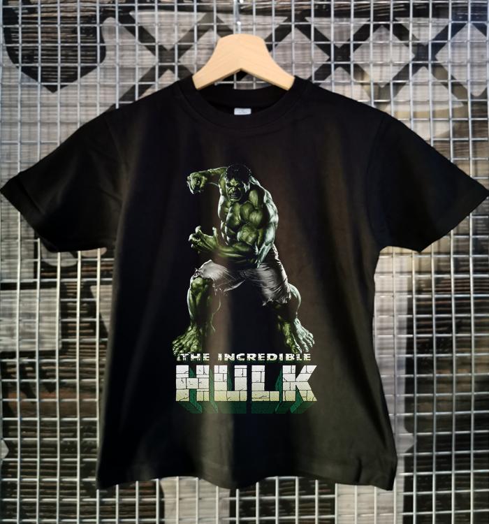 tricou copii hulk negru