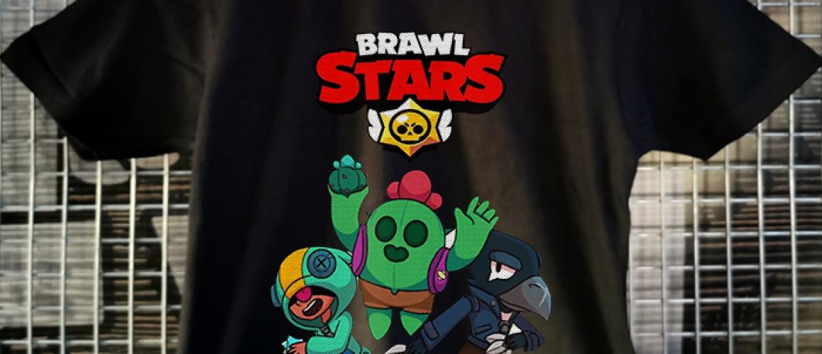 tricou negru copii brawlstars Leon, Spike and Crow
