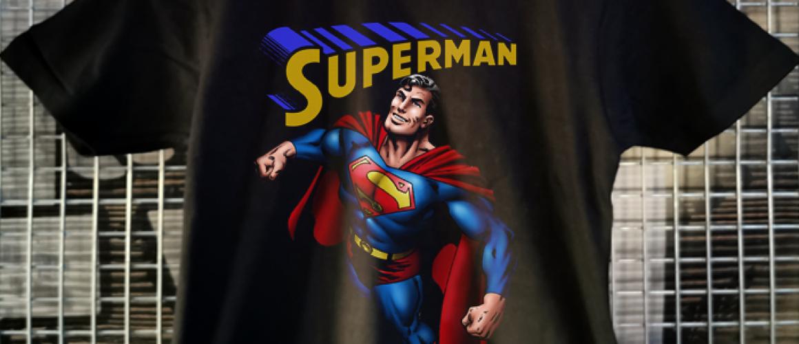 tricou superman negru copii